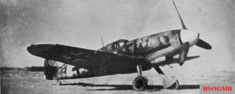 Hartmann flew a Messerschmitt Bf 109 fighter.