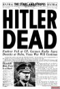 Front page of the U.S. Armed Forces newspaper, Stars and Stripes, 2 May 1945.