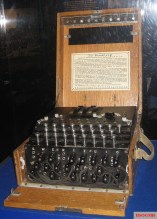 Enigma machine on display at The National WWII Museum, United States.