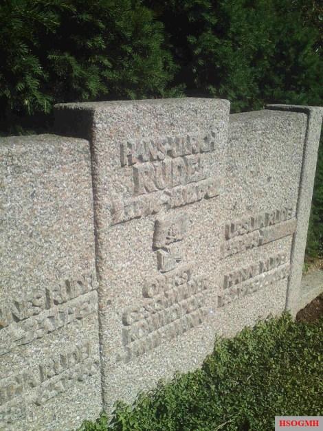 Hans-Ulrich Rudel's grave in Dornhausen.
