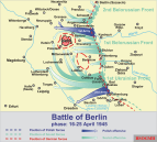 Soviet troop movements, 16 to 26 April 1945.