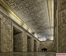 Goldener Saal (Golden Hall) inside the Zeppelin tribune.
