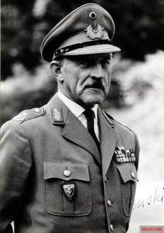 Kurt Freiherr von Liebenstein as Major General of the Bundeswehr.