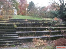 Luitpoldhalle granite stairs leftover from demolition.