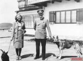Eva Braun and Hitler (with Blondi), June 1942.