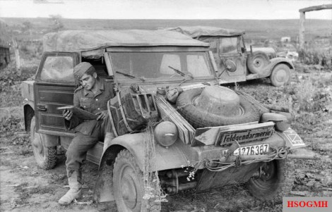 The Kübelwagen on the Eastern Front in 1943.