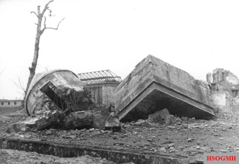 The destroyed Führerbunker, 1947.