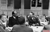 Subhas Chandra Bose with Heinrich Himmler in mid-1941.