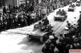 Bulgarians entering Southern Dobrudzha in Romania after the Treaty of Craiova,1940.