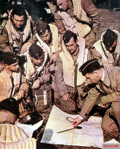 "A group of Focke Wulf Fw 200 ""Condor"" pilots preparing for a mission in 1940."