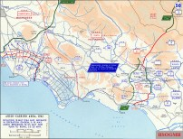 The Allied breakout from Anzio and advance from the Gustav Line May 1944.