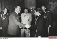 Nicolaus von Below (left) with Hitler, Hermann Göring and Hanna Reitsch in 1941.