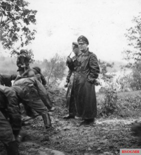 Eicke and the SS Division Totenkopf in the Soviet Union in 1941.