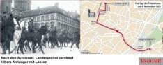 Route of the march thru Munich.