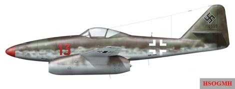 Messerschmitt Me 262 A-1a - EJG 2 - Major Heinz Bär.