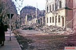 Result of an air raid on an unknown (north?) German city. The picture was made in 1943 by Reichsbahn photographer Walter Hollnagel.