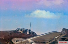 A Junkers Ju 87D Stuka. Photo taken by General Erwin Rommel during his Campaign in North Africa.