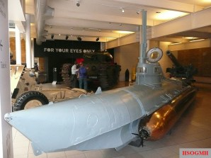 Biber No.90 on display at the Imperial War Museum, 2008.