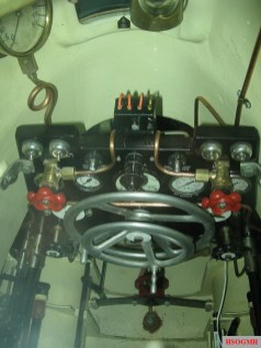 The instruments and controls of a Biber submarine.