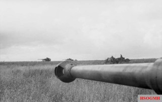 German tanks during Operation Citadel.