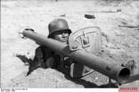 The improved Raketenpanzerbüchse 54 with blast shield.