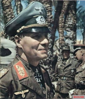 "Erwin Rommel as Generaloberst and Oberbefehlshaber Panzerarmee ""Afrika""."
