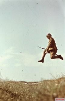 Hungarian soldier training by photographer Konok Tamás.
