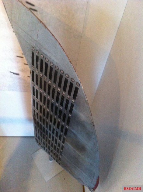 Schröer's Bf 109 rudder with 90 victory markings. This rudder is on display at the Militärhistorisches Museum Flugplatz Berlin-Gatow.