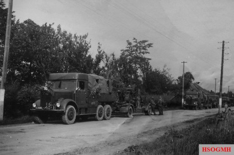 Convoy of Slovak insurgent army vehicles near Kelemeš (today part of Prešov).