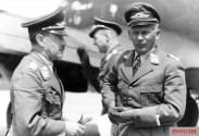 Alexander Löhr, c-in-c Luftflotte 4 (left) and Richthofen, in the spring or summer, 1942.