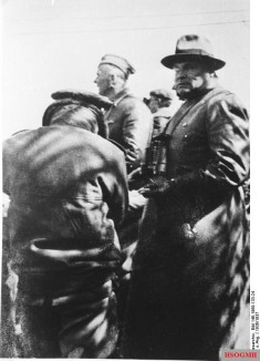 Hugo Sperrle, with Richthofen, somewhere in Spain, 1936.