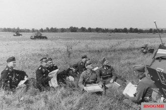 Rommel and staff during the Battle for France, June 1940.