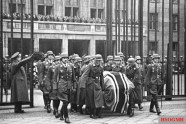 Galland (front honour guard, left) at Ernst Udet's funeral.