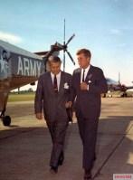 Von Braun with President Kennedy at Redstone Arsenal in 1963.