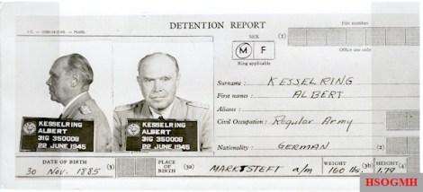 Albert Kesselring's detention report from June 1945.