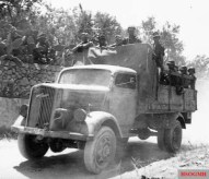 Blitz A medium-weight Wehrmacht truck, Italy, 1944.