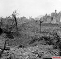 Ruins of the town of Cassino after the battle.