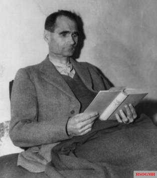 Hess in his cell, November 1945 at Landsberg Prison awaiting trial.