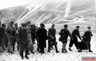 Mussolini rescued by German commandos from his prison in the Hotel Campo Imperatore on 12 September 1943.