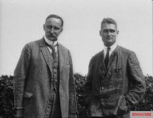 Hess (right) with his geopolitics professor, Karl Haushofer, circa 1920.