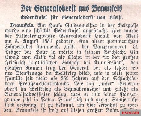 Wetzlarer Anzeiger 17 December 1941.