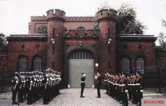 Changing the guard at Spandau Prison, 1986.