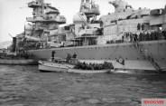 The heavy cruiser Admiral Hipper landing troops in Norway in 1940.
