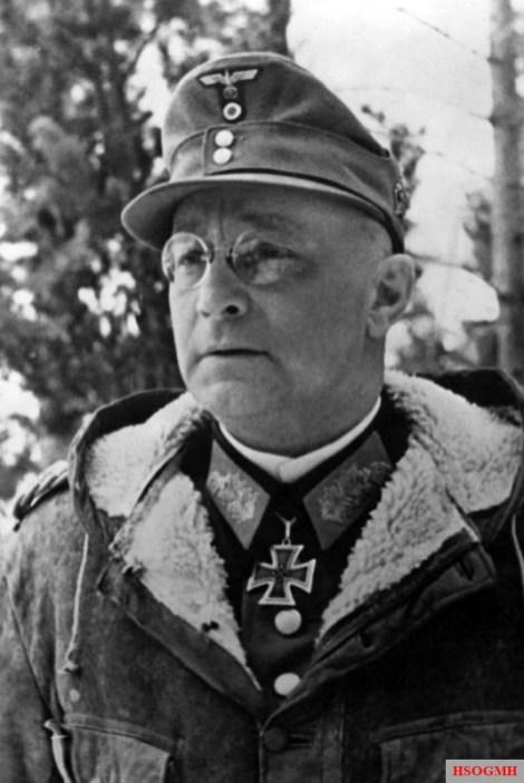 General der Infanterie Böhme, Kommandierender General eines AK an der Lappland -Front. PK-Aufnahme: Kriegsberichter Umbach März 43 2037-43