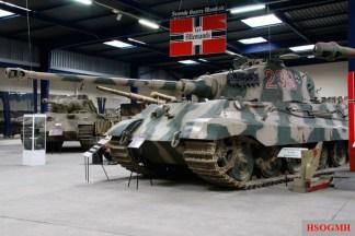 Panther, Flak 88, and Tiger II at the Musée des Blindés - Tank Museum - Saumur, France.