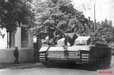 Sturmgeschütz-Brigade 303 on the move in city of Lappeenranta.