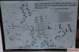 Photograph of a map of the layout of structures at the military complex at Zossen: Maybach I.
