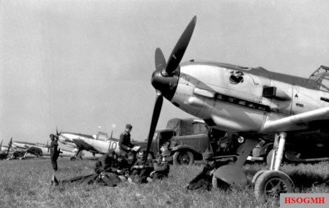 Bf 109 of JG 51 in France, August 1940.