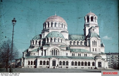 The Alexander Nevsky Cathedral in Sofia 1942.