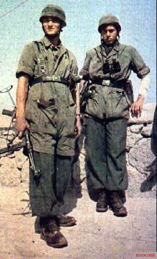Two German Fallschirmjäger (Paratrooper) at Crete in May 1941.